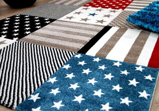 kinder und jugend teppich maui sterne rot blau teppiche kinder und spielteppiche maui. Black Bedroom Furniture Sets. Home Design Ideas