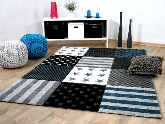 Kinder und Jugend Teppich Maui Sterne Grau Türkis online kaufen