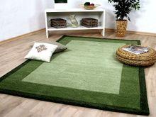 Natur Teppich Indo Nepal  Padma Grün Bordüre online kaufen