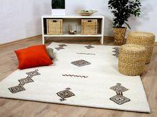 Natur Teppich Berber Aruna Wollweiss Medaillon online kaufen