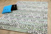 Designer Teppich Funky Mandalas Modern Blau Grün online kaufen