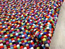 Nepal Filzkugelteppich Felty Bunt Multicolour online kaufen