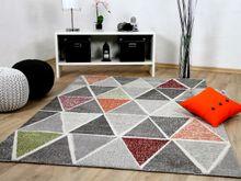 Designer Teppich Sevilla Modern Grau Bunt Prisma online kaufen