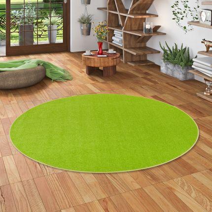 Trend Velours Teppich Joy Grasgrün Rund