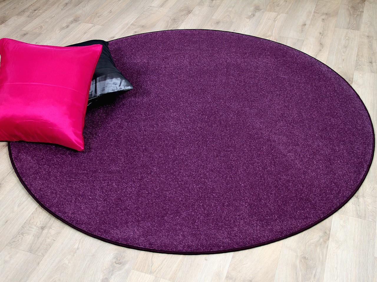 trend velours teppich joy lila rund teppiche. Black Bedroom Furniture Sets. Home Design Ideas