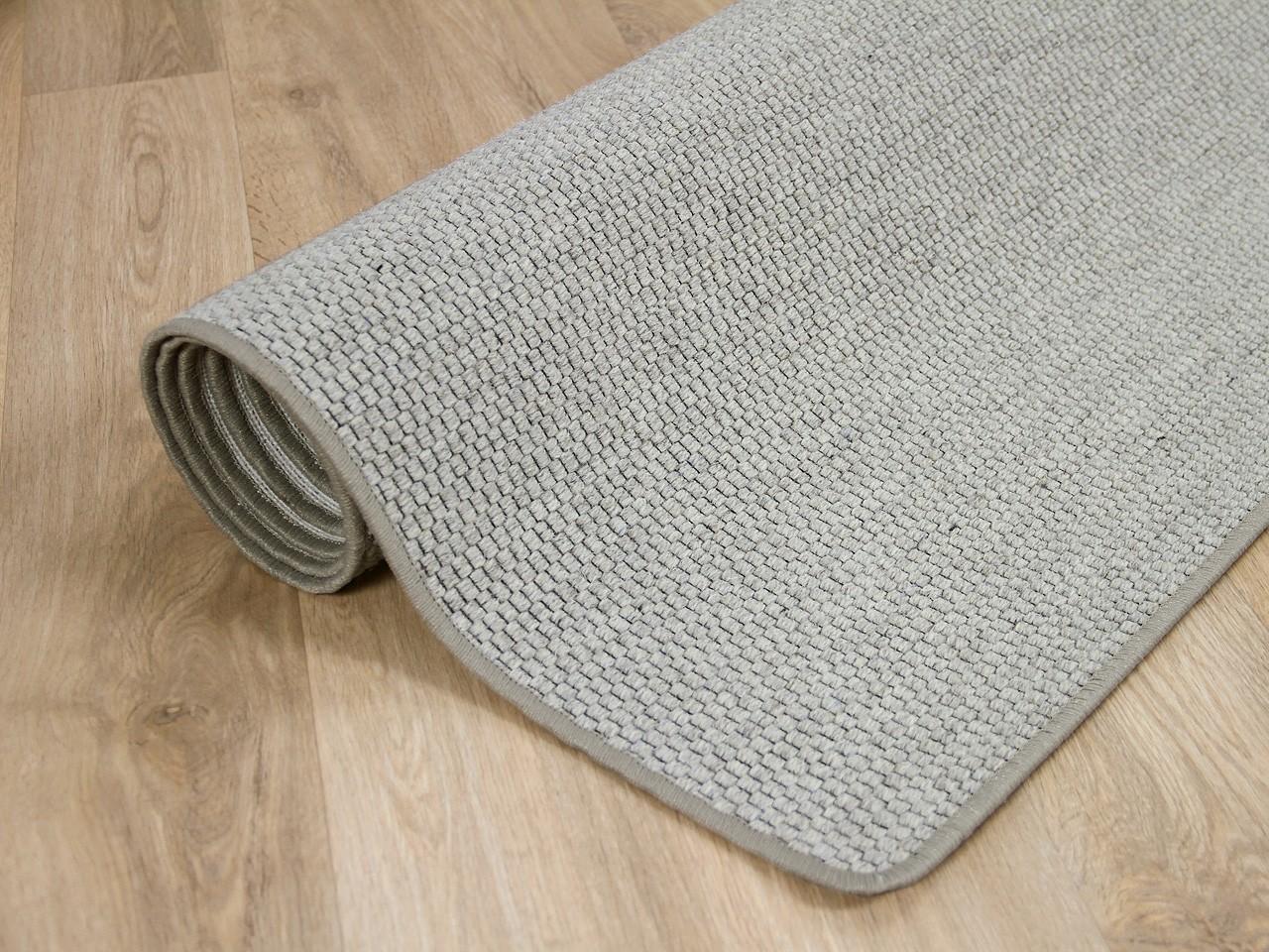 Natur Teppich Wolle Bentzon Flachgewebe Grau Teppiche Sisal Und