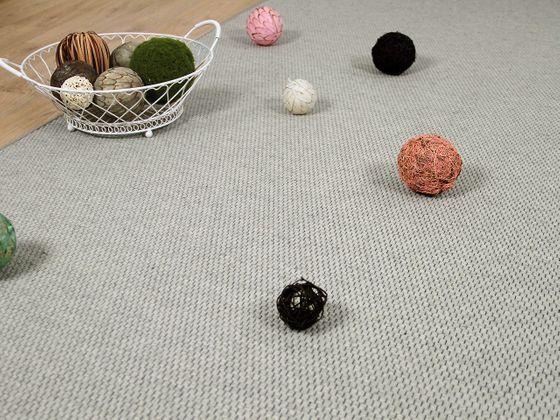 Natur Teppich Wolle Bentzon Flachgewebe Grau