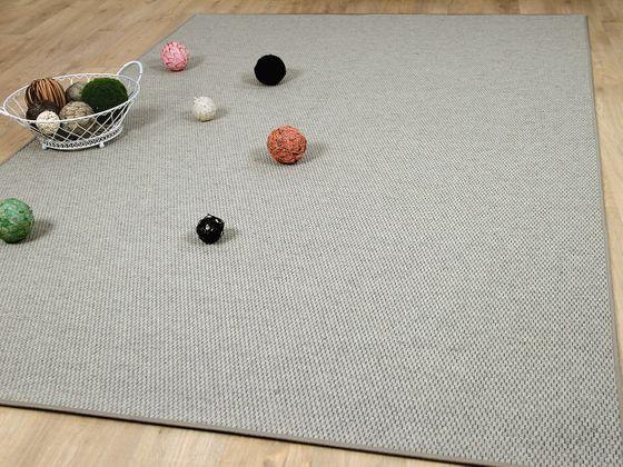 Natur Teppich Wolle Bentzon Flachgewebe Grau online kaufen
