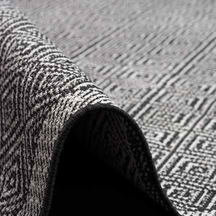 In- und Outdoor Teppich Beidseitig Flachgewebe Hampton Schwarz Meliert online kaufen