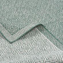 In- und Outdoor Teppich Beidseitig Flachgewebe Hampton Grün Meliert online kaufen
