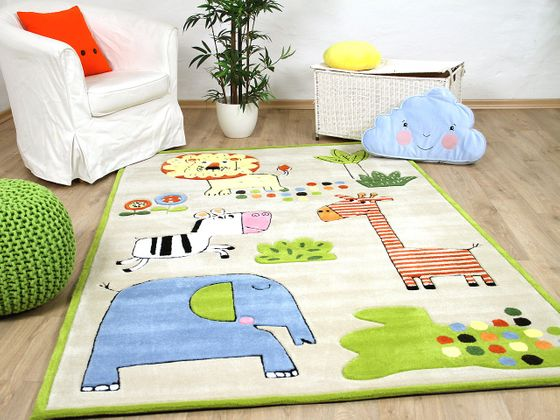 Lifestyle Kinderteppich Happy Zoo Bunt