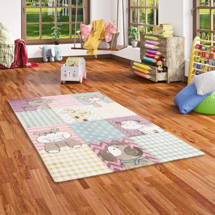 Kinder Teppich Maui Kids Bunt Kinderzoo online kaufen