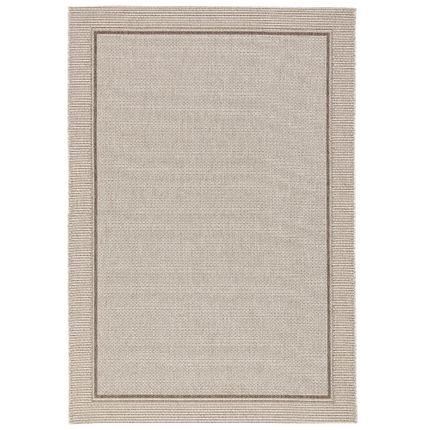 In & Outdoor Teppich Flachgewebe Natur Panama Grau Bordüre online kaufen