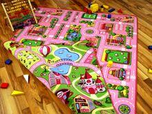 Straßenteppich Beidseitig mit zwei Straßenlandschaften Girls Rosa online kaufen