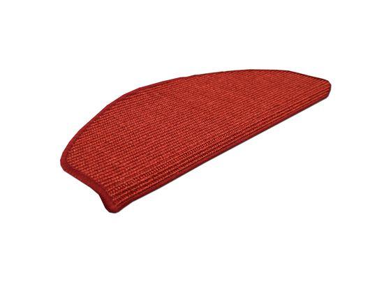 Natur Sisal Stufenmatten Rot (halbrund) in 2 Größen online kaufen