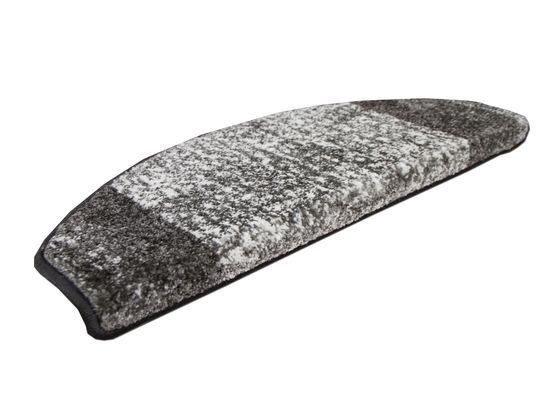 Velours-Stufenmatte Softstar Grau Bordüre (halbrund) online kaufen