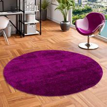 Hochflor Langflor Shaggy Teppich Aloha Purple Rund online kaufen