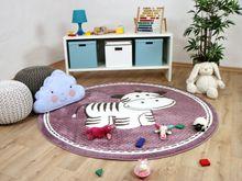 Kinder Teppich Maui Kids Zebra Lila Rund online kaufen
