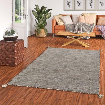 Natur Teppich Kelim Prico Ivory