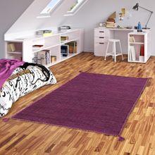 Natur Teppich Kelim Prico Pink online kaufen