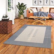 In- und Outdoor Teppich Flachgewebe Carpetto Bordüre Trend Blau online kaufen