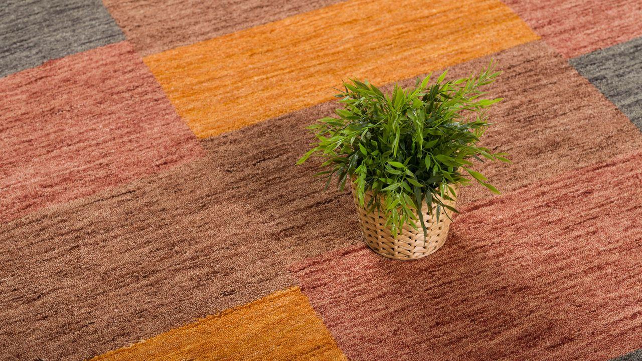 natur teppich indo gabbeh indira terrakotta karo teppiche nepal gabbeh und kelim teppiche indo. Black Bedroom Furniture Sets. Home Design Ideas