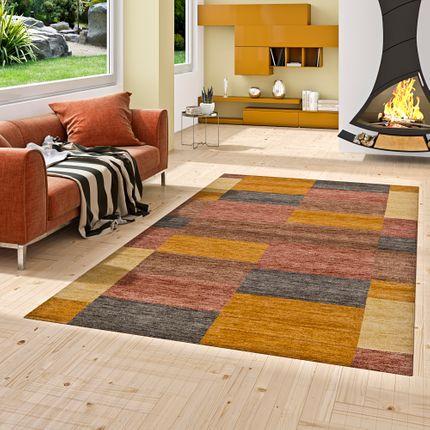 Natur Teppich Indo Gabbeh Indira Terrakotta Karo online kaufen