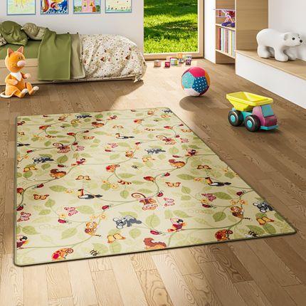 Kinder Spiel Teppich Velours Urwaldtiere Grün online kaufen