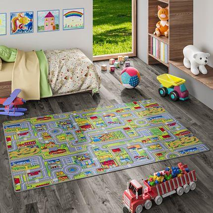 Kinder Spiel Teppich Abenteuerland Bunt online kaufen
