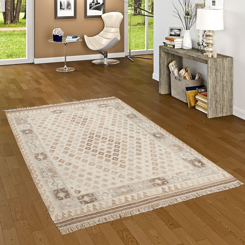 natur teppich kelim sumak creme beige bord re teppiche nepal gabbeh und kelim teppiche kelim. Black Bedroom Furniture Sets. Home Design Ideas