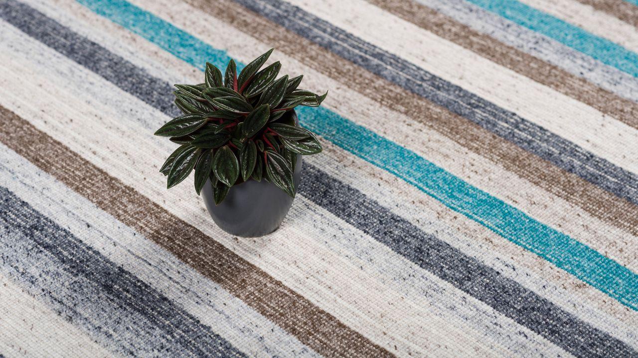 natur teppich kelim capri petrol streifen ebay. Black Bedroom Furniture Sets. Home Design Ideas
