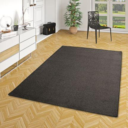 Hochflor Velours Teppich Luna Anthrazit online kaufen