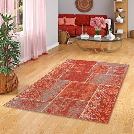 In- und Outdoor Teppich Flachgewebe Carpetto Terrakotta Patchwork online kaufen