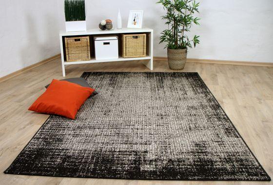 In- und Outdoor Teppich Flachgewebe Carpetto Schwarz Verlauf online kaufen