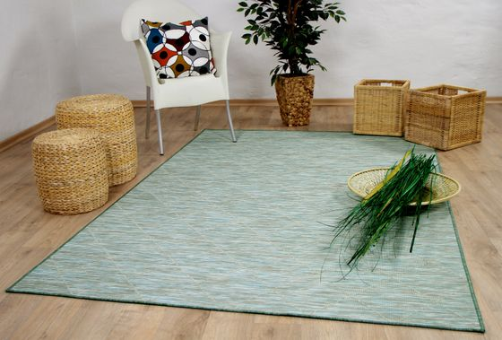 In- und Outdoor Teppich Beidseitig Flachgewebe Hampton Karo Mintgrün online kaufen