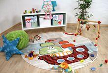 Kinder Teppich Savona Kids Piratenschiff Beige Bunt Rund online kaufen