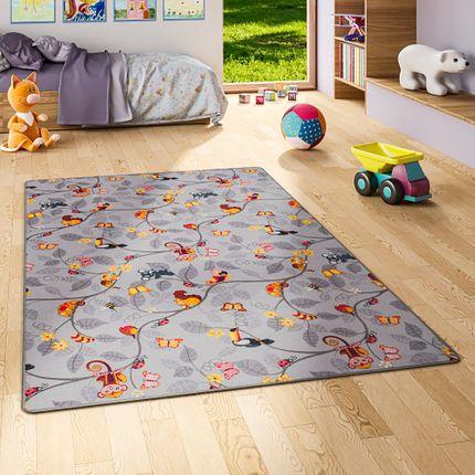 Kinder Spiel Teppich Velours Urwaldtiere Grau online kaufen