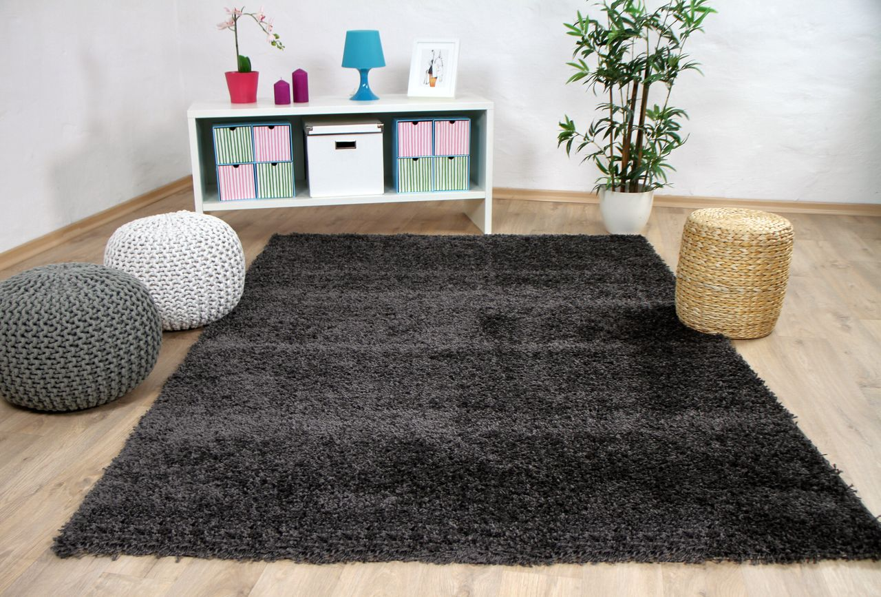 hochflor langflor shaggy teppich hawaii anthrazit teppiche. Black Bedroom Furniture Sets. Home Design Ideas