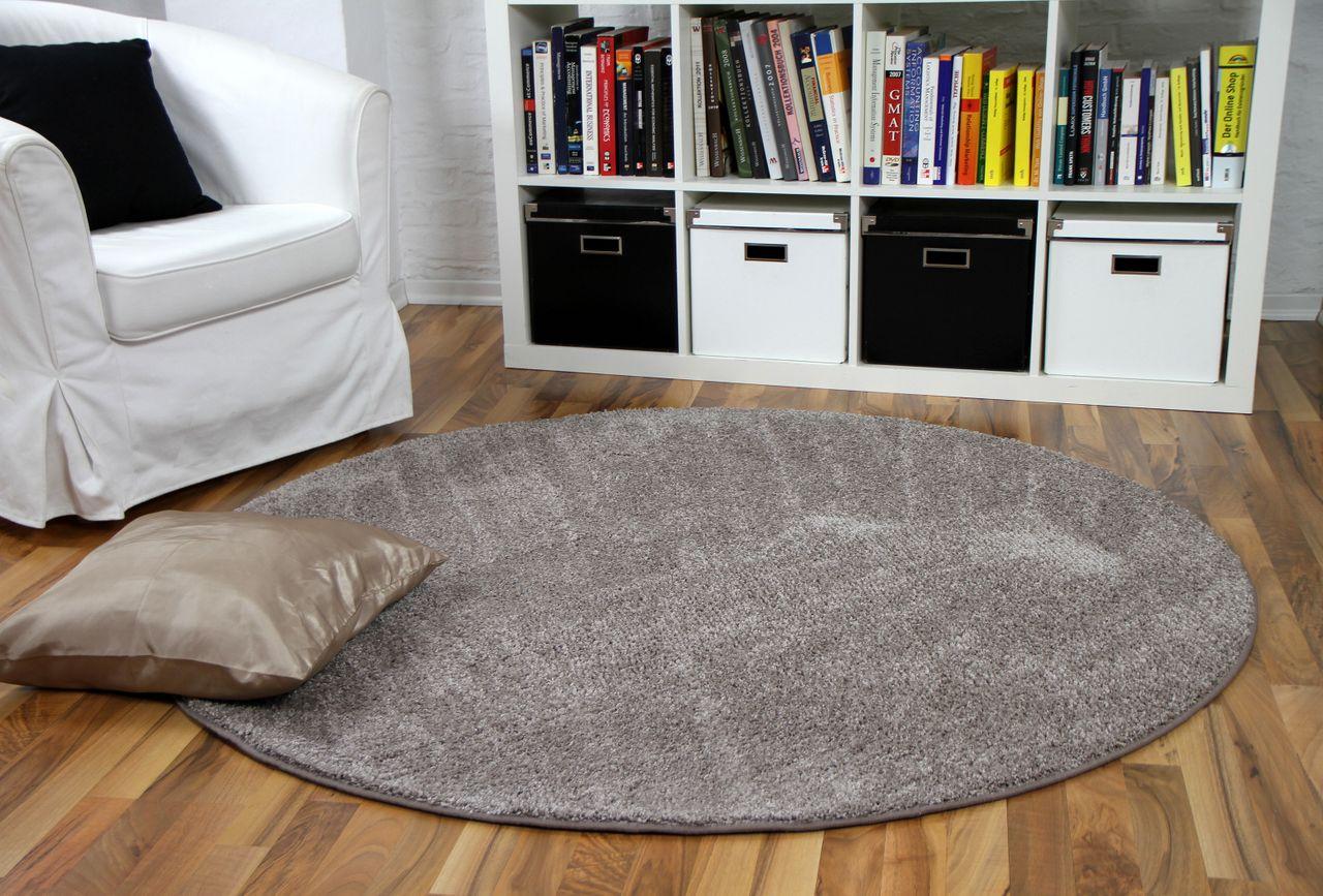 hochflor velours teppich mona taupe rund teppiche veloursteppiche kr usel velours triumph und mona. Black Bedroom Furniture Sets. Home Design Ideas
