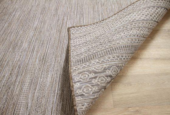 In- und Outdoor Teppich Beidseitig Flachgewebe Hampton Taupe Modern online kaufen