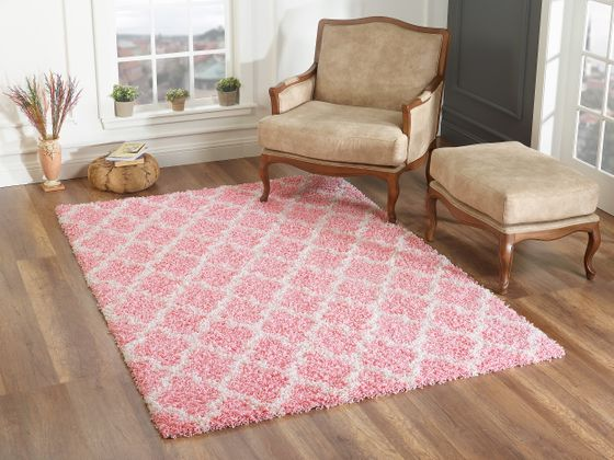 Hochflor Langflor Shaggy Teppiche In Pink Lila Und Rosa