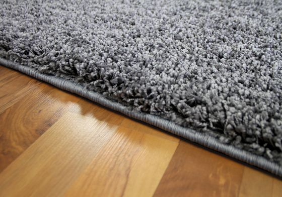 Luxus Hochflor Langflor Teppich Milano Grau online kaufen