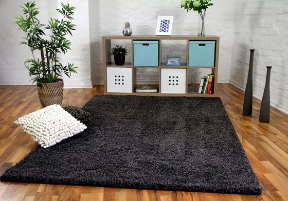 Luxus Hochflor Langflor Teppich Milano Anthrazit online kaufen