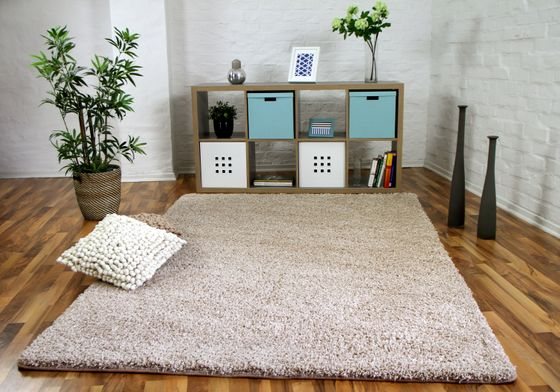 Luxus Hochflor Langflor Teppich Milano Beige online kaufen