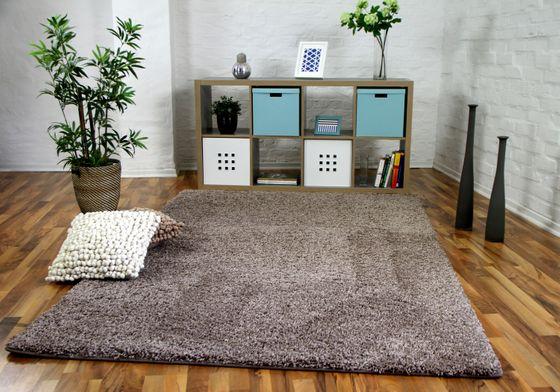 Luxus Hochflor Langflor Teppich Milano Mauve online kaufen