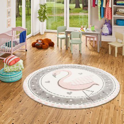 Kinder Teppich Maui Kids Pastell Rosa Flamingo Rund online kaufen