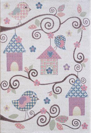 Kinder und Spielteppich Softstar Kids Vögelhäuschen Pastell Bunt online kaufen
