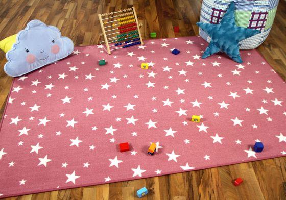 Kinder Spiel Teppich Sterne Rosa online kaufen