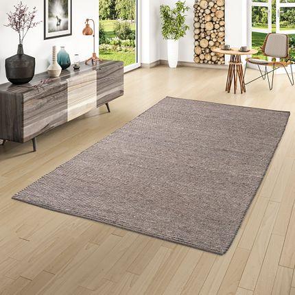 Natur Teppich Wolle Beidseitig Island Braun online kaufen