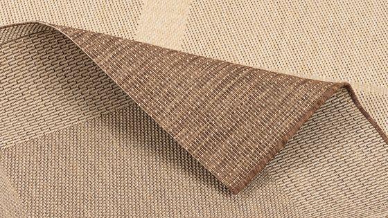 In- und Outdoor Teppich Flachgewebe Carpetto Bordüre Trend Karamell online kaufen